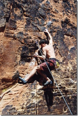 Clipping bolts in Red Rocks