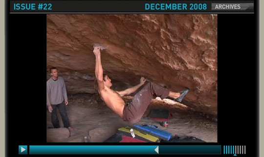 Chris Sharma sending Esperanza (V14)