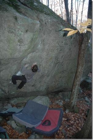 Ty Landman climbing Child of the Storm
