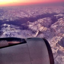 Flying over the Matterhorn on the way home