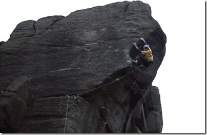 Pete Whittaker climbing E9