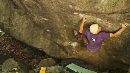 Carlo Traversi bouldering in Switzerland