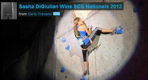 Sasha DiGiulian Winning 2012 SCS Nationals