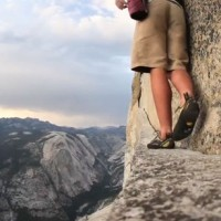 Climbing Video: Alex Honnold Free Soloing Half Dome