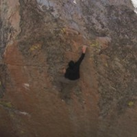 Climbing Video:  Dan Beall Ground Up On Bishop Highball Luminance