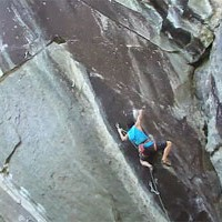 Climbing Video:  Mike Foley Sending Livin' Astroglide (5.14c) In Rumney